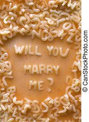vontade, mim, casar, u