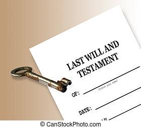 vontade, testamento, último