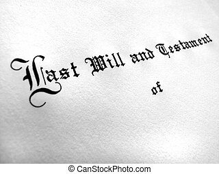 vontade, testamento, planificação, último, propriedade