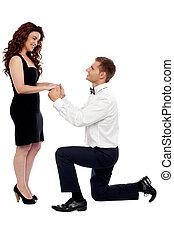 vontade, tu, casar, me?