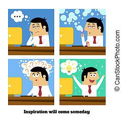 vontade, venha, inspiração