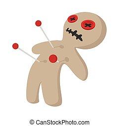 Voodoo doll cartoon icon