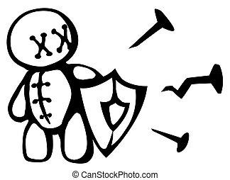 Voodoo Doll Shield Stencil - Voodoo doll shield stencil ...