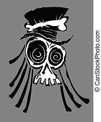 Voodoo Skull - Illustration of a voodoo skull