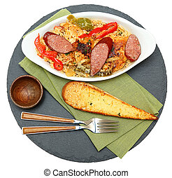 Voodoo Spicy Cajun Chicken and Sausage with Rice