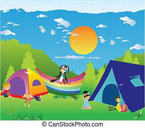 voor, kamperen