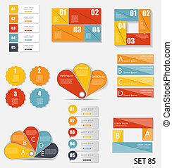 voorbeelden, handel illustratie, infographic, vector, verzameling