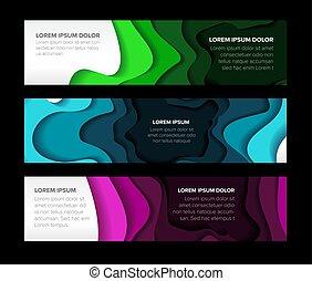 voorbeelden, horizontaal, set, banieren