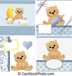 voorbeelden, schattig, kaart, baby