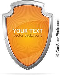 voorbeelden, schild, tekst, lke, metaal, vector, toespraak