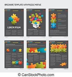 voorbeelden, set, moderne, flyer, ontwerp, informatieboekje
