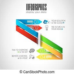 voorbeelden, stijl, data., display, origineel, infographics,...