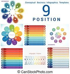 voorbeelden, uitwerken, set, zakelijk, cyclic, posities, ...