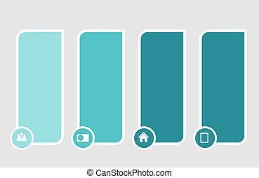 voorbeelden, vector, illustratie zaak, infographic