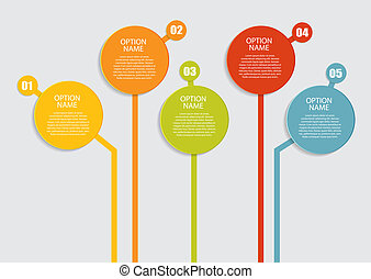 voorbeelden, vector, illustration., zakelijk, infographic