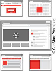 voorbeelden, website, verzameling, pagina