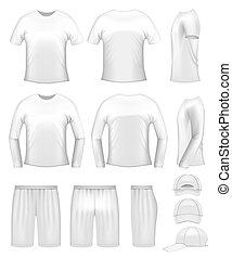 voorbeelden, witte , mannen, kleding