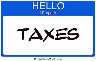 voorbereiden, hallo, belastingen