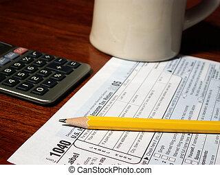 voorbereiding, belasting