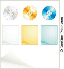 voorbereiding, disks., vector, illustratie, internet