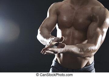 voorbereiding, voor, de, alledaags, workout