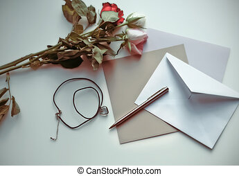 voorbij, brief, van, geheugen