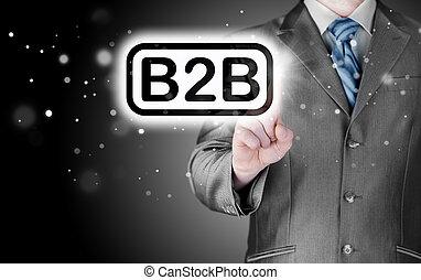 voorgrond, woord, wijzende, business-to-busines, b2b,...