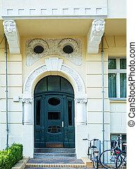 vooringang, deur, aanzicht