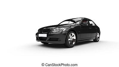 voorkant, auto, black