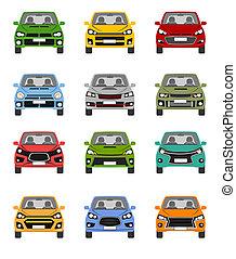 voorkant, compact, einde, auto, concepten