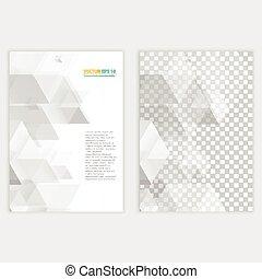 voorkant, flyer, back, mal, design.