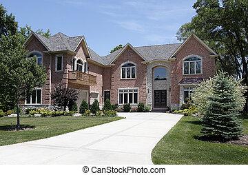 voorkant, thuis, luxe, balkon