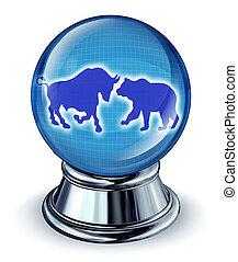 voorspellingen, markt, liggen
