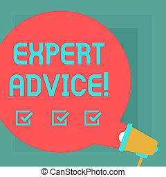 voorstel, announcement., helpen, deskundig, bel, foto, hulp, komst, advice., schrijvende , zakelijk, toespraak, hand, aanbeveling, conceptueel, professioneel, megafoon, tekst, het tonen, ronde, uit