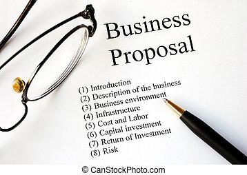 voorstel, brandpunt, zakelijk