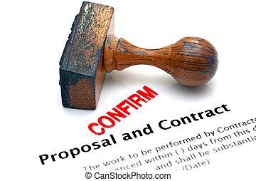 voorstel, contracteren