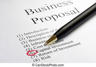 voorstel, zakelijk
