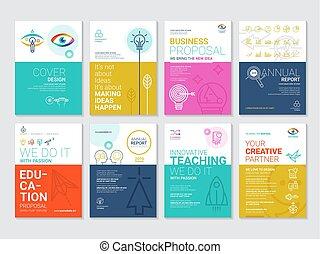 voorstelling, brochures, infographic, data, zakelijk