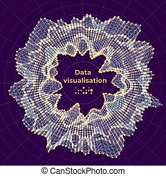 voorstelling, illustration., concept., complex, vector, data, abstract