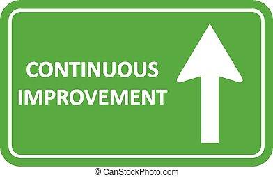 voortdurend, verbetering, signaal