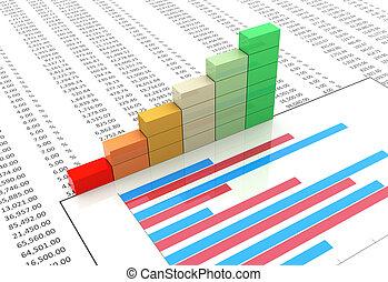 voortgang bar, op, spreadsheet