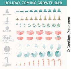 voortgang, vakantie, komst, bar.