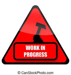 voortgang, werken