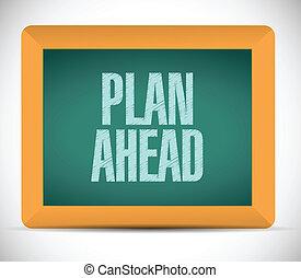 vooruit, boodschap, ontwerp, plan, illustratie