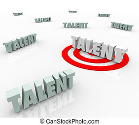 vooruitzichten, targeting, werkmannen , bekwaam, het aanwerven, werk, talent