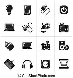voorwerpen, elektronisch, artikelen & hulpmiddelen, iconen