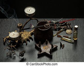 voorwerpen, leven, nog, magisch