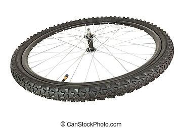voorwiel, de fiets van de berg