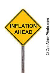 voorzichtigheid, inflatie, -, vooruit