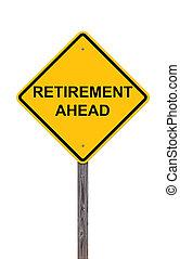 voorzichtigheid, pensioen, -, vooruit